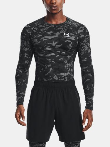 UNDER ARMOUR: HG ARMOUR CAMO COMP LÅNGÄRMAD - SVART