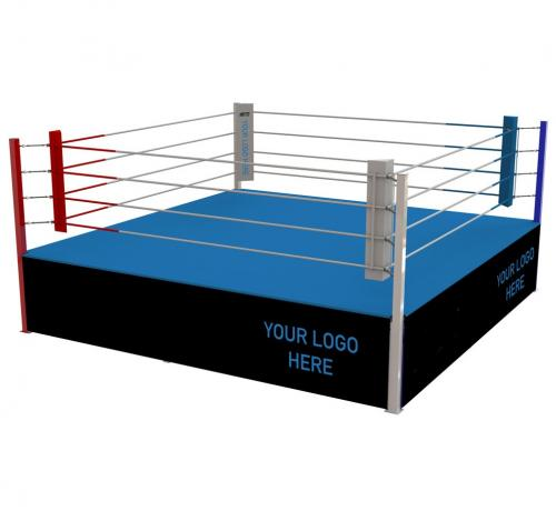 "BOXNINGSRING ""COMPETITION"" PLAIN CANVAS, CORNER PADS"