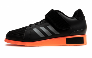 ADIDAS: POWER PERFECT III TYNGDLYFTNINGSSKOR - SVART/ORANGE