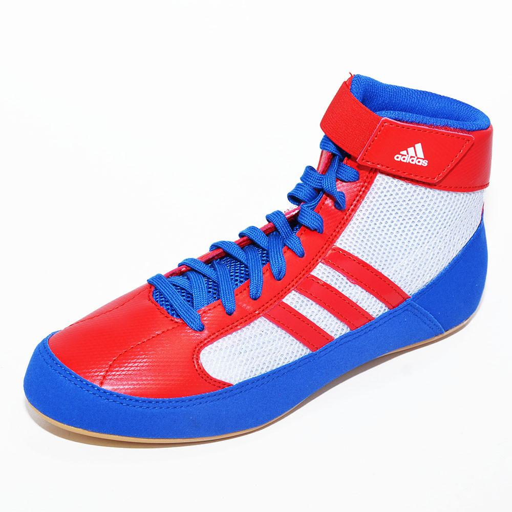 5091648b7ba ... usa adidas hvc wrestling shoes blue red white d32d4 1fa2a ...