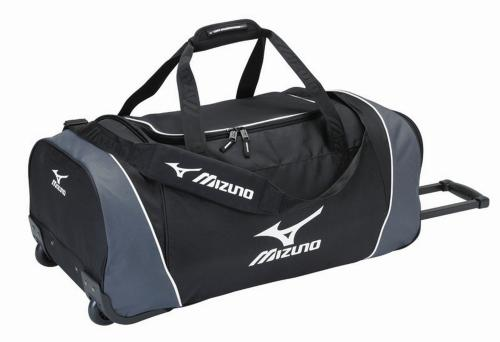 MIZUNO: TEAM WHEEL BAG LARGE - SVART/GRÅ