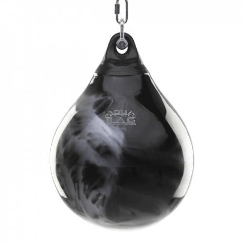 "AQUA TRAINING BAG: PUNCHING BAG 18"" - SVART/SILVER"