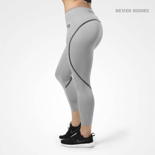 BETTER BODIES: ASTORIA TIGHTS 7/8 längd - LJUS GRÅ