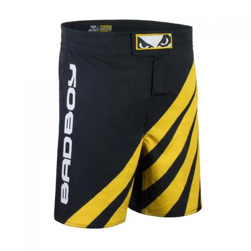 BAD BOY: TRAINING SERIES IMPACT MMA SHORTS - SVART/GUL
