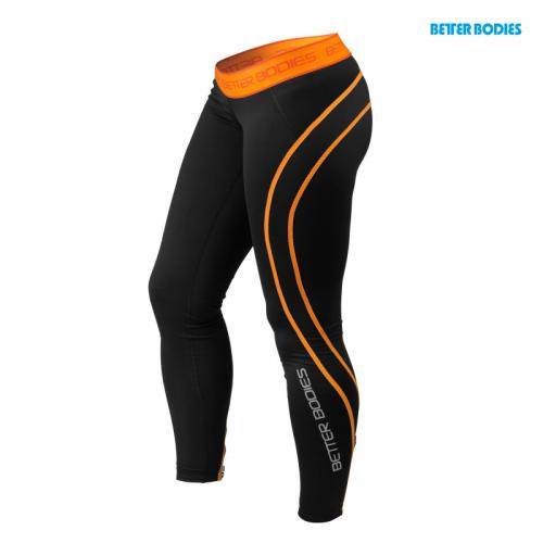 BETTER BODIES: ATHLETE TIGHTS - SVART/ORANGE