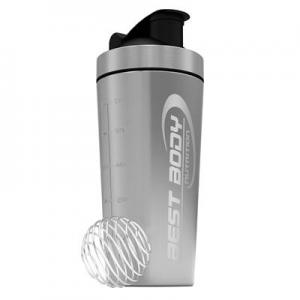 BEST BODY NUTRITION: STAINLESS STEEL SHAKER - SILVER