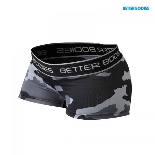 BETTER BODIES: FITNESS HOTPANT - GRÅ CAMO