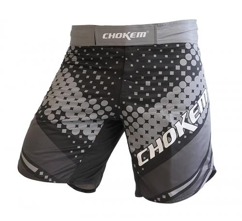 CHOKEM: FORCE MMA SHORTS - SVART/GRÅ