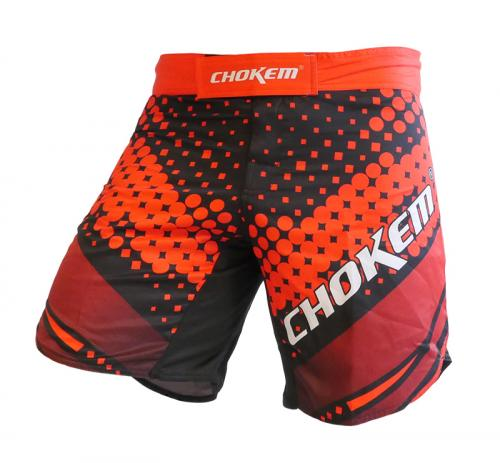 CHOKEM: FORCE MMA SHORTS - SVART/RÖD
