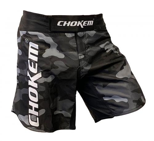 CHOKEM: FORCE MMA SHORTS - GRÅ CAMO