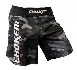 CHOKEM: FORCE MMA SHORTS - GRÅ CAMO