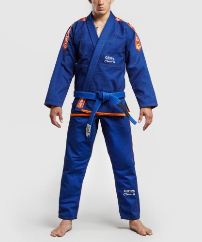 GR1PS: BJJ CLASSIC-G - BLÅ/ORANGE