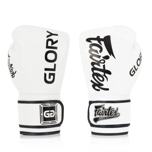 FAIRTEX: OFFICIAL GLORY BOXNINGSHANDSKAR - VIT