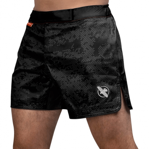 HAYABUSA: HEX MID-LENGTH FIGHT SHORTS - SVART