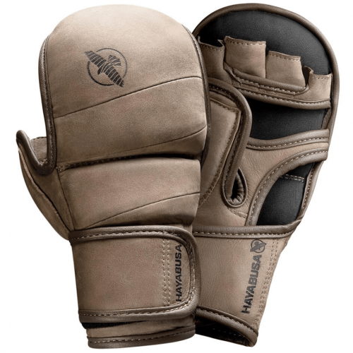 HAYABUSA: T3 LX 7oz HYBRID MMA HANDSKAR - BRUN