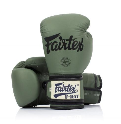 FAIRTEX: F-DAY GREEN ARMY BOXNINGSHANDSKAR