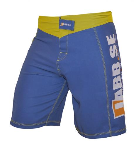 JABB: MMA SHORTS 4-WAY STRETCH - BLÅ/GUL