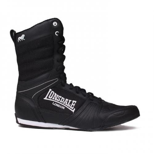huge selection of e22dc ee231 LONSDALE CONTENDER HIGH BOXING SHOES - BLACK