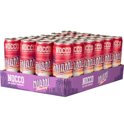 NOCCO BCAA MIAMI SUMMER EDITION STRAWBERRY HEL PLATTA 24st - 330ml