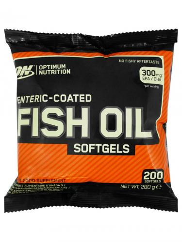 OPTIMUM NUTRITION: ENTERIC COATED FISH OIL - 200 kapslar