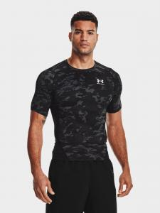 UNDER ARMOUR: HG ARMOUR CAMO COMP SHORT SLEEVE - SVART