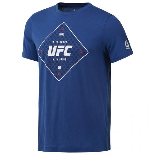 REEBOK: UFC TEXT T-SHIRT - BLÅ