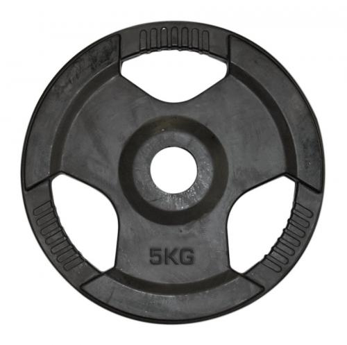 COREX: 5kg VIKTSKIVA I GUMMI 50mm - 5kg
