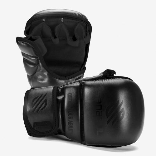 SANABUL: ESSENTIAL 7oz MMA SPARRING HANDSKAR - SVART/SVART