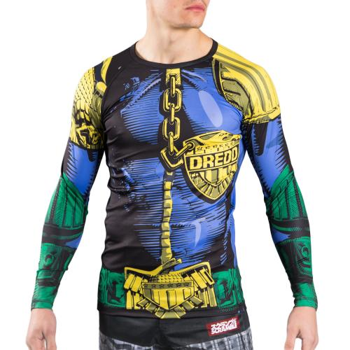 "SCRAMBLE: X JUDGE DREDD ""THE LAW"" RASHGUARD"