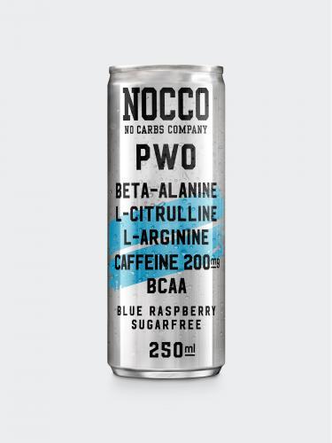 NOCCO PWO: BLUE RASPBERRY SMAK - 250ml