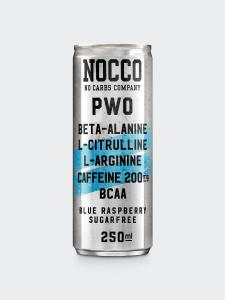NOCCO PWO: BLUE RASPBERRY SMAK - 250ml