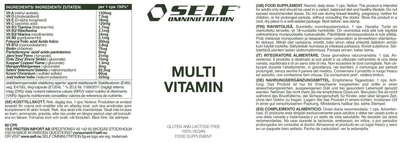 self omninutrition multivitamin
