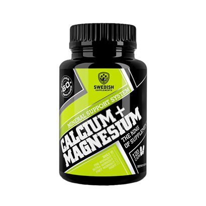SWEDISH SUPPLEMENTS: CALCIUM + MAGNESIUM - 120 kapslar