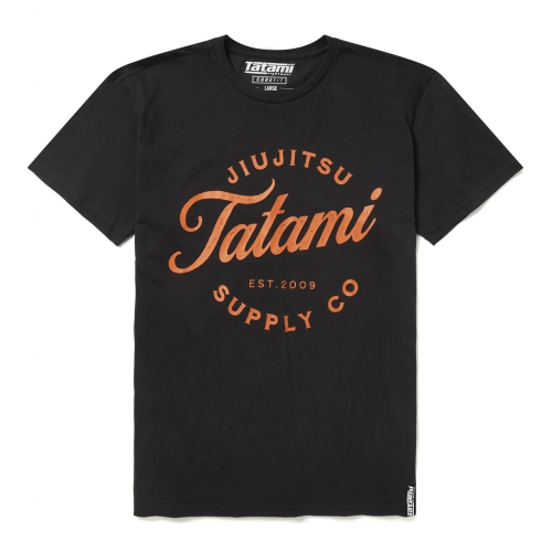 TATAMI: CLASSIC T-SHIRT - SVART/ORANGE