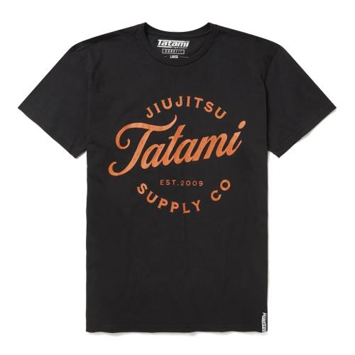 TATAMI: CLASSIC T-SHIRT - SVART/ORANGE