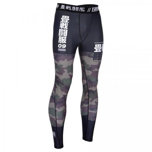 TATAMI: ESSENTIAL CAMO TIGHTS - GRÖN