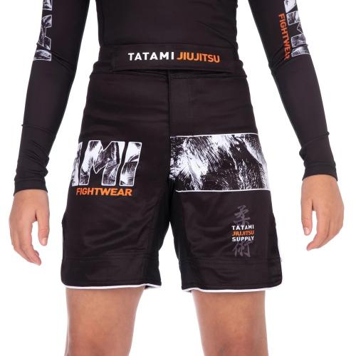 TATAMI: KIDS TROPIC GRAPPLING SHORTS - SVART