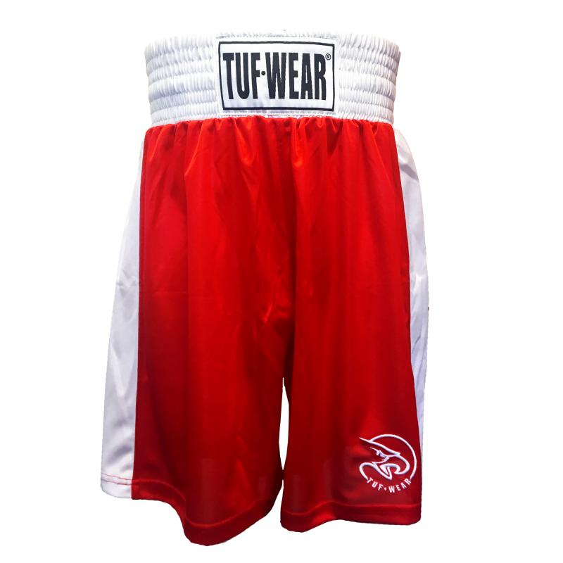 TUF WEAR: KIDS JUNIOR CLUB BOXNINGSSHORTS - RÖD