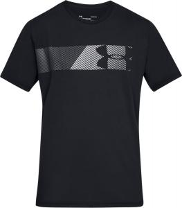 UNDER ARMOUR: FAST LEFT CHEST T-SHIRT - SVART