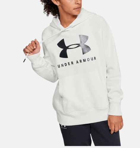 UNDER ARMOUR: RIVAL FLEECE SPORTSTYLE GRAPHIC HOODIE - VIT
