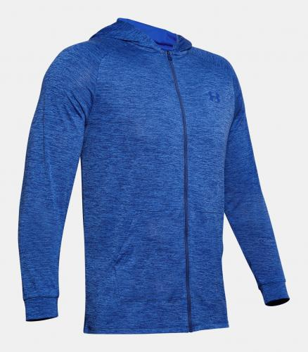 UNDER ARMOUR: TECH 2.0 FZ HOODIE - BLÅ