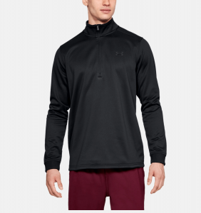 UNDER ARMOUR: ARMOUR FLEECE 1/2 ZIP TRÖJA - SVART