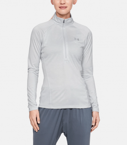 UNDER ARMOUR: TECH TWIST 1/2 ZIP TRÖJA - HALO GRÅ