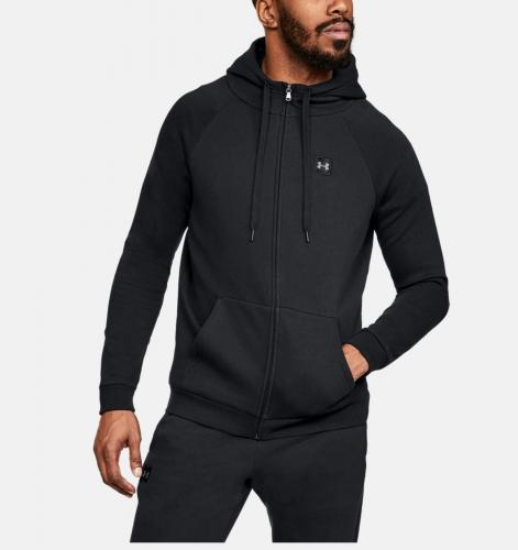 UNDER ARMOUR: RIVAL FLEECE FZ HOODIE - SVART
