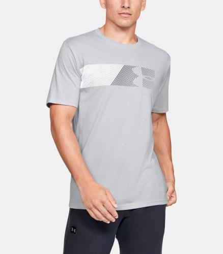UNDER ARMOUR: FAST LEFT CHEST T-SHIRT - GRÅ