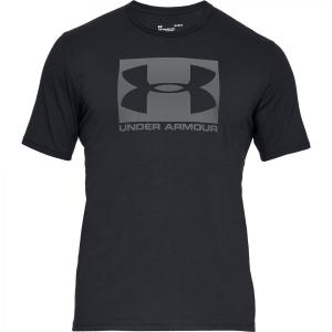UNDER ARMOUR: BOXED SPORTSTYLE T-SHIRT - SVART
