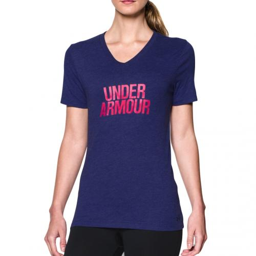 UNDER ARMOUR: BRANDED CORE T-SHIRT - LILA
