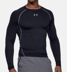 UNDER ARMOUR: COLDGEAR ARMOUR KOMPRESSION MOCK TRÖJA - SVART