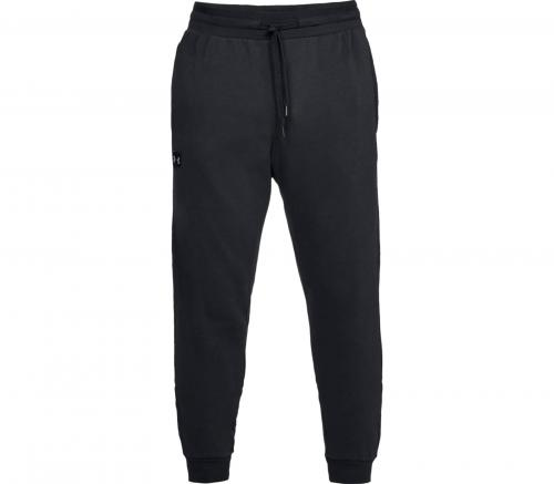UNDER ARMOUR: RIVAL FLEECE JOGGERS - SVART