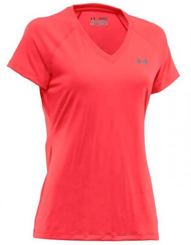 UNDER ARMOUR: HEAT GEAR WOMEN TECH T-SHIRT - RÖD